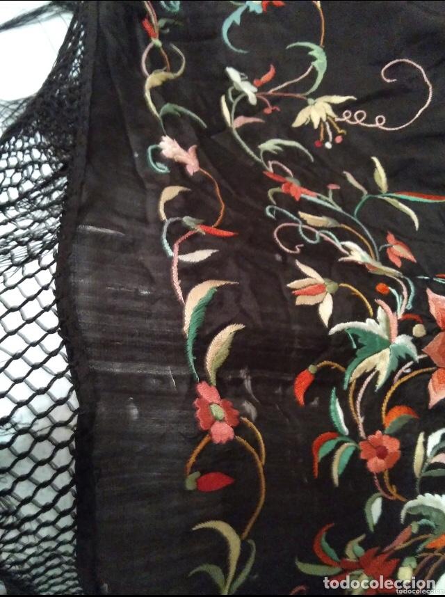 Antigüedades: Antiguo mantón de manila isabelino - Foto 15 - 126976987