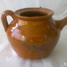 Antigüedades: TETERA BARRO ESMALTADO. Lote 126987555