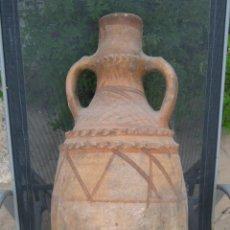 Antigüedades: 62 CM - ANTIGUO GRAN CANTARO CERAMICA POPULAR 2 ASAS. Lote 126994595