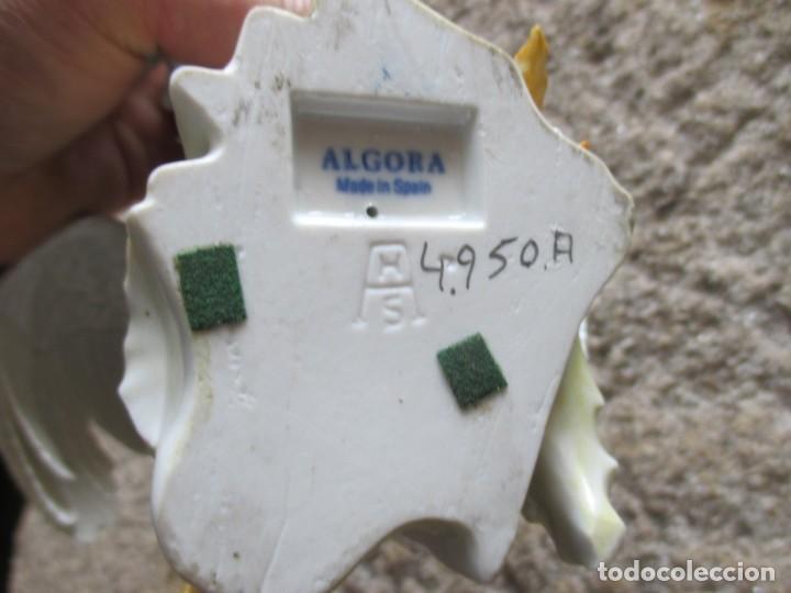 Antigüedades: GALLO DE PELEA PORCELANAS ALGORA - 25CM ALTURA 1.2KG EXCELENTE + INFO Y FOTOS - Foto 5 - 127009859