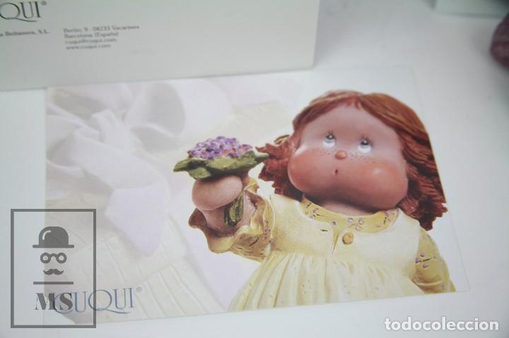 Antigüedades: Figura de Resina - Cuqui. Preparando el Invierno - Ref. 4703 - Magda Genestar - Edición Numerada - Foto 3 - 127040267