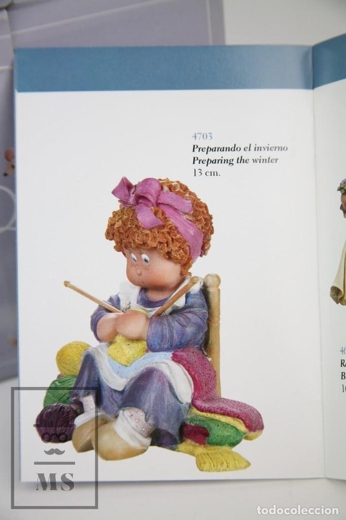 Antigüedades: Figura de Resina - Cuqui. Preparando el Invierno - Ref. 4703 - Magda Genestar - Edición Numerada - Foto 5 - 127040267