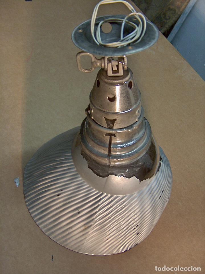 foco, lámpara, X Ray, made belgium, mod. 485 prince, gasfilled lamp, 200 W, tulipa cristal segunda mano