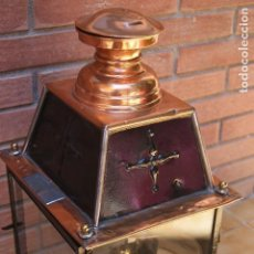 Antigüedades: ANTIGUA LAMPARA DE ACEITE DE ANDÉN DE TREN. Lote 127119611