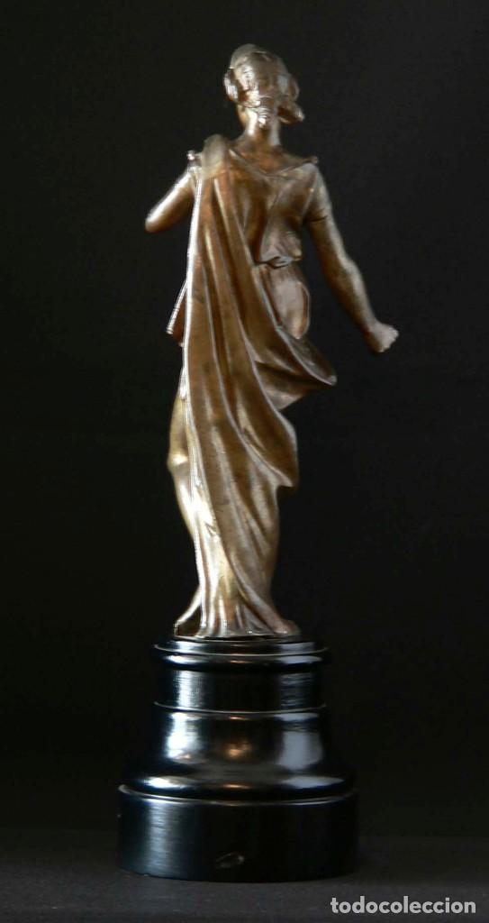 Antigüedades: ESCULTURA DE LA DIOSA GRIEGA THALÍA EN BRONCE - Foto 2 - 127132663