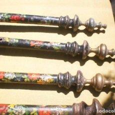 Antigüedades: 4 BALAUSTRES DE CAMA ANTIGUA.. Lote 127133247