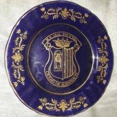 Antigüedades: PLATO CON EL ESCUDO DE ALBARRACIN. Lote 127156643