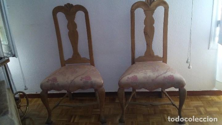 Antigüedades: Pareja de sillas - Foto 2 - 127161995