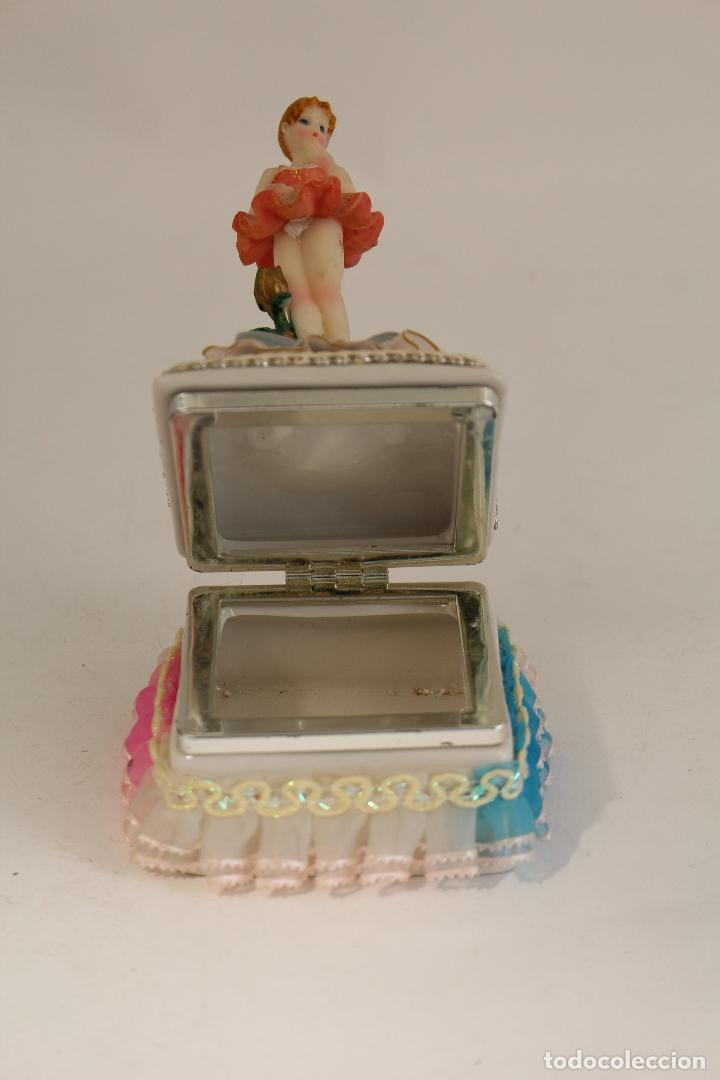 Antigüedades: cajita joyero con bairlarina en porcelana y resina - Foto 4 - 127177471