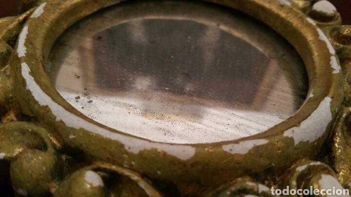 Antigüedades: Muy antigua pareja de pequeñas Cornucopias. Escayola y Oro fino. S XIX. Miden 14 X 14 cm. cada una. - Foto 4 - 127199284