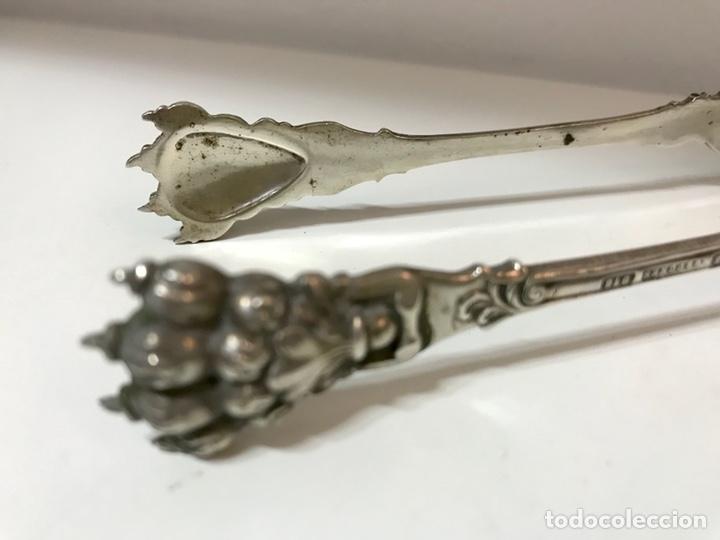 Antigüedades: Pinzas de plata 916, contraste platero Espuñes. Finales S XIX, principios del siglo XX. - Foto 4 - 127209979