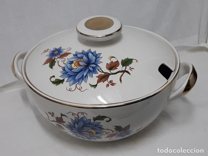 SOPERA DE PORCELANA STANDAR SAN CLAUDIO SPAIN (Antigüedades - Porcelanas y Cerámicas - Otras)