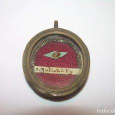 Antigüedades: ANTIGUO RELICARIO CON SU LACRA CORRESPONDIENTE....SAN JULIAN.. Lote 127215751