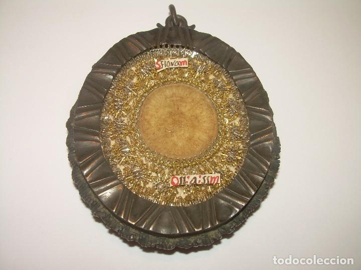 Antigüedades: ANTIGUO RELICARIO SIGLO XVII...DE PLATA....GRANDES DIMENSIONES. - Foto 2 - 127215879