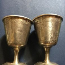 Antigüedades: PAREJA COPAS PLATA SIGLO XVIII , XIX . Lote 127240731