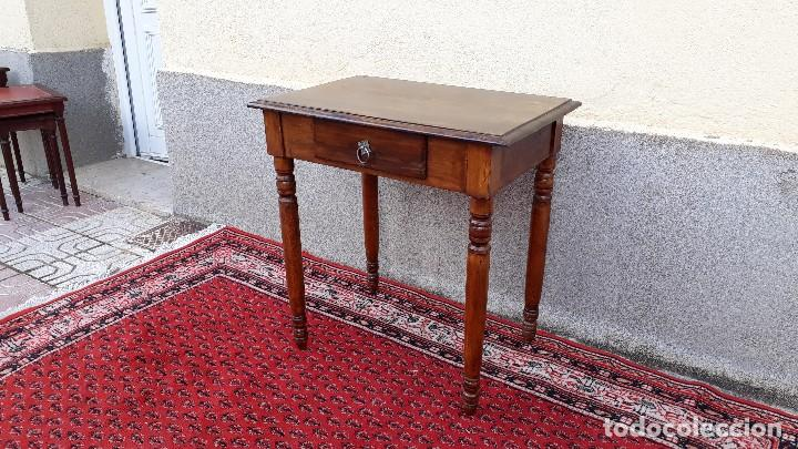 Mesa tocinera antigua, mesa auxiliar con cajón, pequeña mesa de cocina  retro vintage