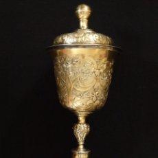 Antigüedades: GERMAN POKAL. COPA DE PLATA SOBREDORADA CON PUNZONES DE PLATERO. 24 CM.. ALEMANIA SIGLO XVII.. Lote 127165003