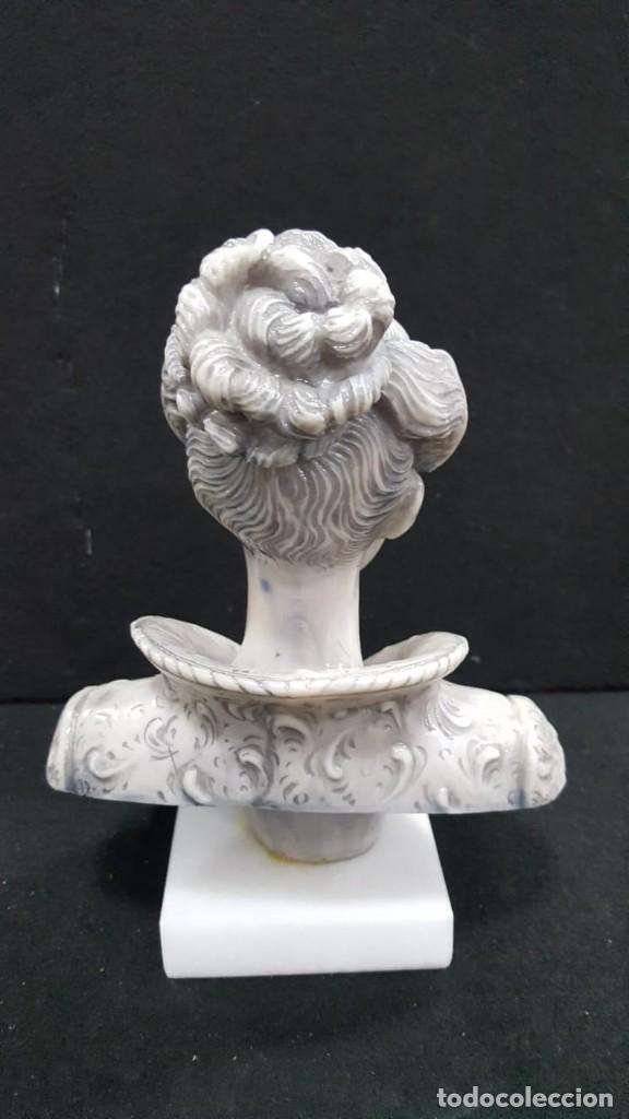 Antigüedades: BUSTO DAMA POLVO DE ALABASTRO - Foto 4 - 127302963