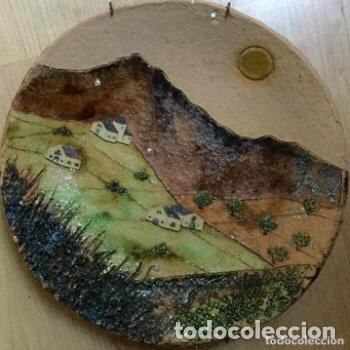 Antigüedades: Plato de cerámica de Alquimia firmado y fechado - Foto 2 - 127345359