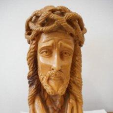 Antigüedades: BUSTO EN MADERA DE JESUCRISTO. Lote 127348195