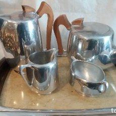 Antigüedades: JUEGO DE CAFE ART DECO PICQUOT 5 PIEZAS. Lote 127357763