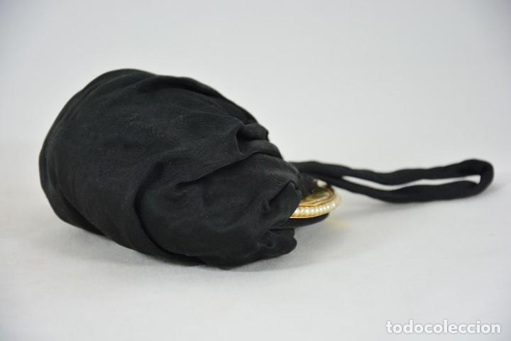 Antigüedades: Bolso antiguo de mujer - Negro y dorado - Perlas - Foto 4 - 127376515