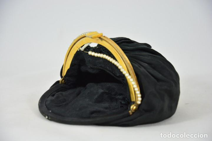 Antigüedades: Bolso antiguo de mujer - Negro y dorado - Perlas - Foto 5 - 127376515