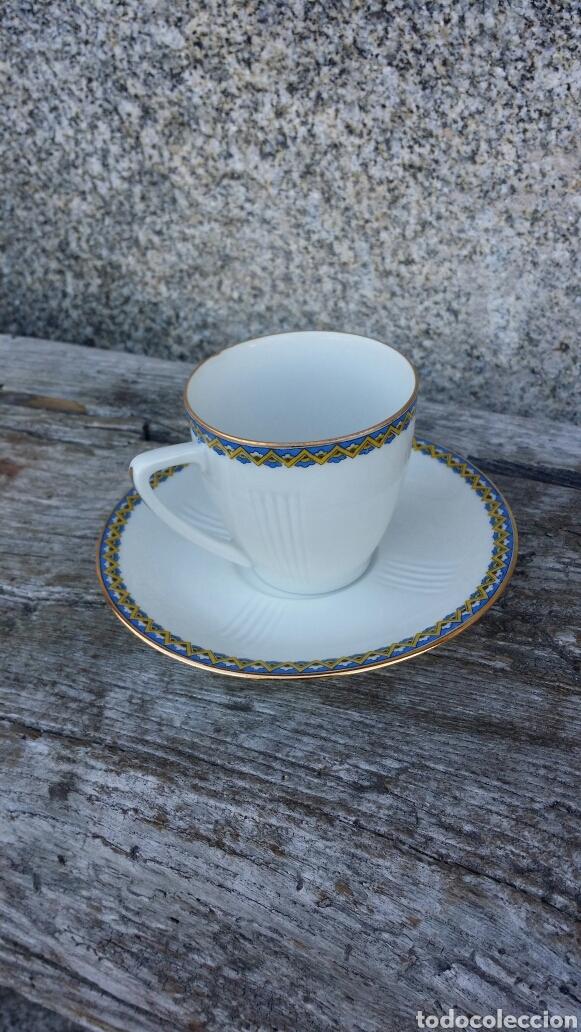 Antigüedades: Antiguo juego de café Limoges 11 servicios - Foto 2 - 127437872