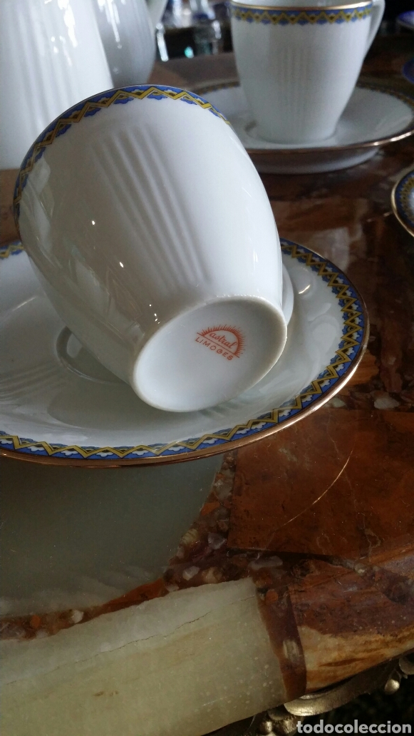 Antigüedades: Antiguo juego de café Limoges 11 servicios - Foto 9 - 127437872
