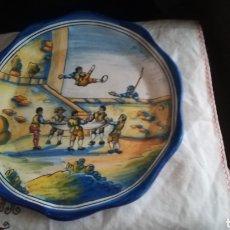 Antigüedades: ANTIGUO PLATO DE CERÁMICA DE TALAVERA FIRMADO POR NIVEIRO. Lote 127443880