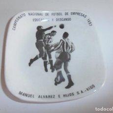 Antigüedades: PLATO OBSEQUIO CAMPEONATO NACIONAL DE FUTBOL DE EMPRESAS 1967 - PONTESA. Lote 133632289