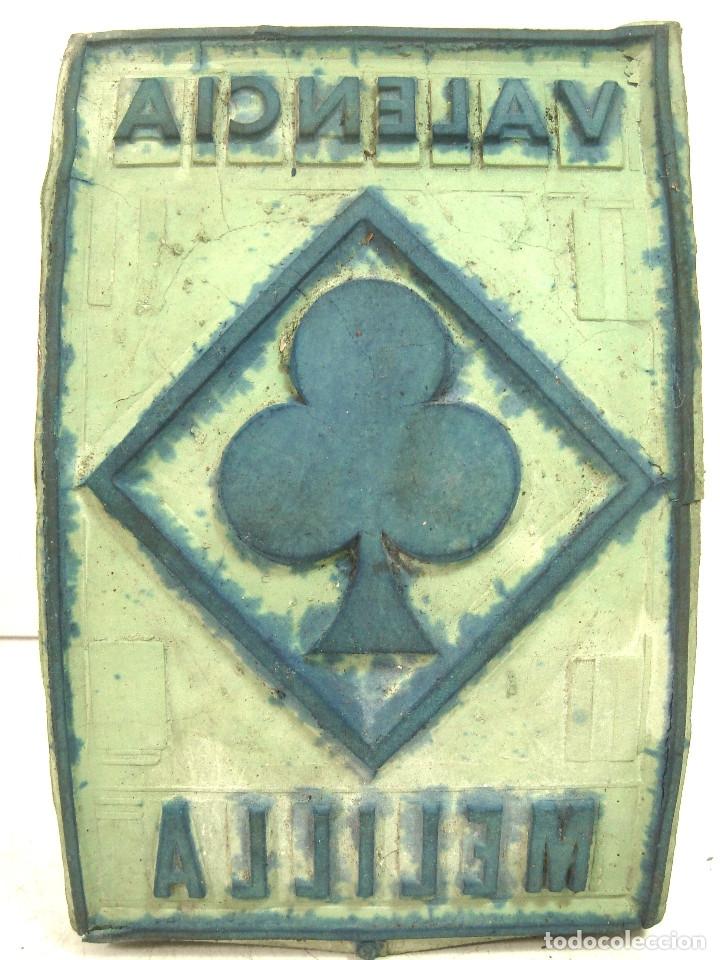 Antigüedades: RARO TAMPON/SELLO 18 CMS ORIGEN DESTINO- PARA SACOS DE ARROZ TREBOL - VALENCIA MELILLA - MADERA - Foto 2 - 127455807