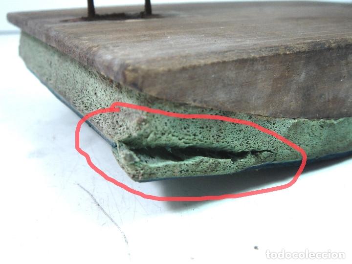 Antigüedades: RARO TAMPON/SELLO 18 CMS ORIGEN DESTINO- PARA SACOS DE ARROZ TREBOL - VALENCIA MELILLA - MADERA - Foto 7 - 127455807