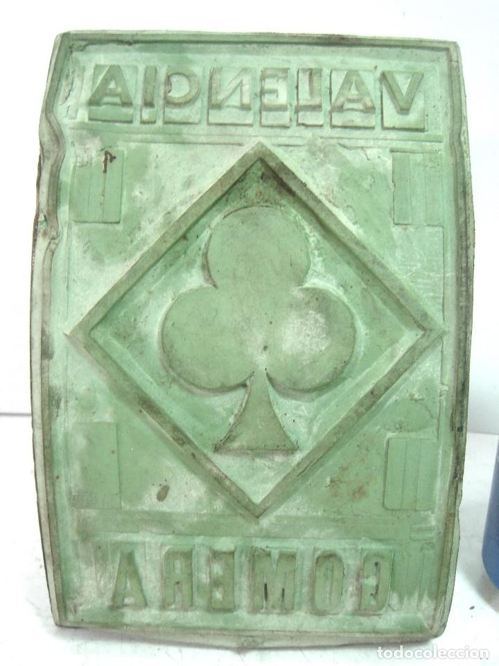 Antigüedades: RARO TAMPON/SELLO 18 CMS ORIGEN DESTINO- PARA SACOS DE ARROZ TREBOL - VALENCIA GOMERA - MADERA - Foto 2 - 127456599