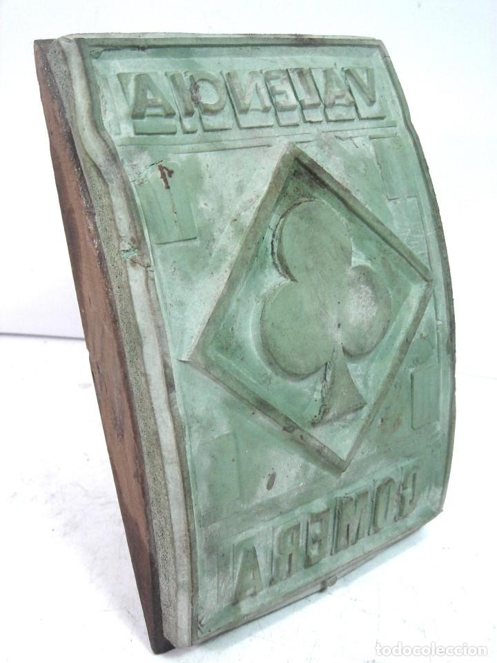 Antigüedades: RARO TAMPON/SELLO 18 CMS ORIGEN DESTINO- PARA SACOS DE ARROZ TREBOL - VALENCIA GOMERA - MADERA - Foto 3 - 127456599