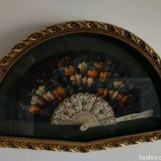 Antigüedades: ABANIQUERO CON ABANICO. Lote 127479359