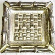 Antigüedades: ANTIGUO CENICERO CON BAÑO DE PLATA - SELLO LAS MARCO - 11CM. Lote 127501867