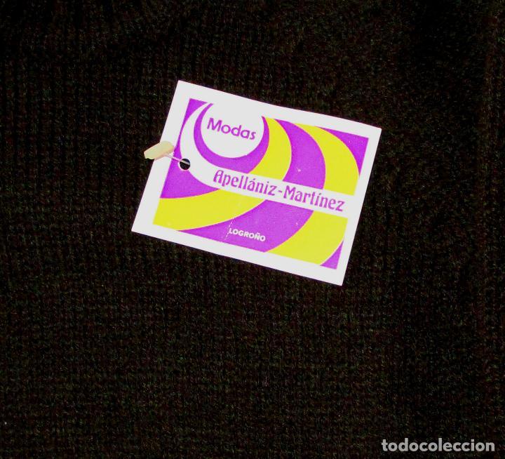 Antigüedades: Pantalón y jersey, lana marrón y grecas blancas.Modas Apellaniz Mtz. Logroño. Talla 4. Años 1970-80 - Foto 4 - 127527335