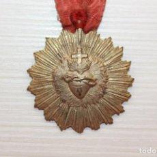 Antigüedades - MEDALLA CON CINTA, SAGRADO CORAZÓN, ADVENIAT REGNUM TUUM, 4 CM DE DIÁMETRO - 127541311