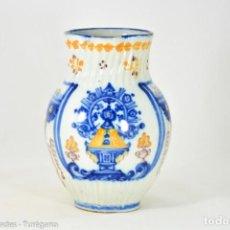Antigüedades: JARRA DE BOLA 1880 - VIRGEN DEL PRADO - CERÁMICA ANTIGUA DE TALAVERA - JUSTA LLORENTE. Lote 127548795