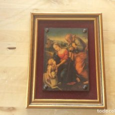 Antigüedades: CUADRO MOTIVO RELIGIOSO MADERA. Lote 127552899