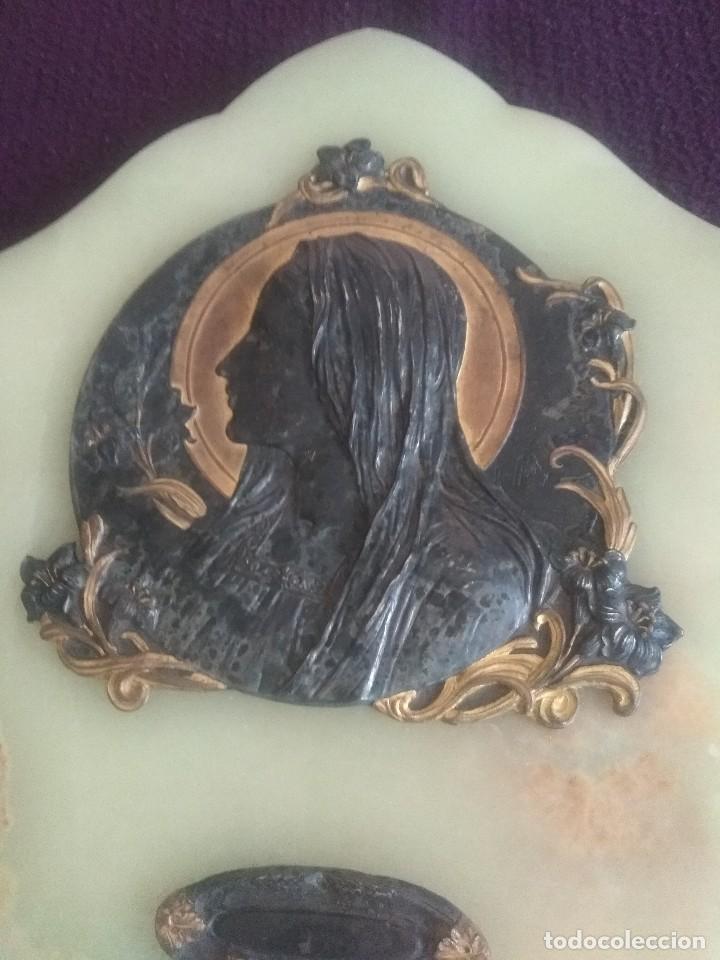 Antigüedades: Preciosa benditera firmada modernista - Foto 2 - 127553247