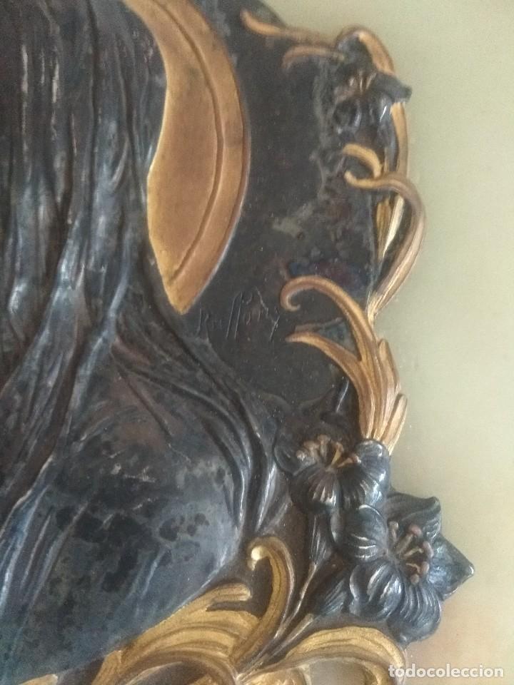 Antigüedades: Preciosa benditera firmada modernista - Foto 3 - 127553247