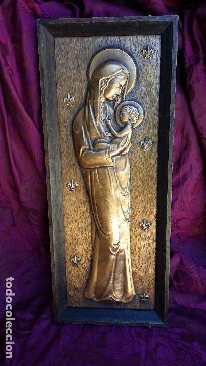 BONITA VIRGEN. (Antigüedades - Religiosas - Ornamentos Antiguos)