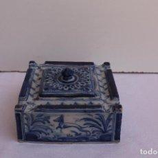Antigüedades: TINTERO CERAMICA DE TALAVERA RUIZ DE LUNA . Lote 127568183