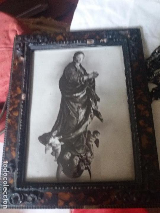 marco de carey antiguo con imagen de la inmacul - Comprar Marcos ...