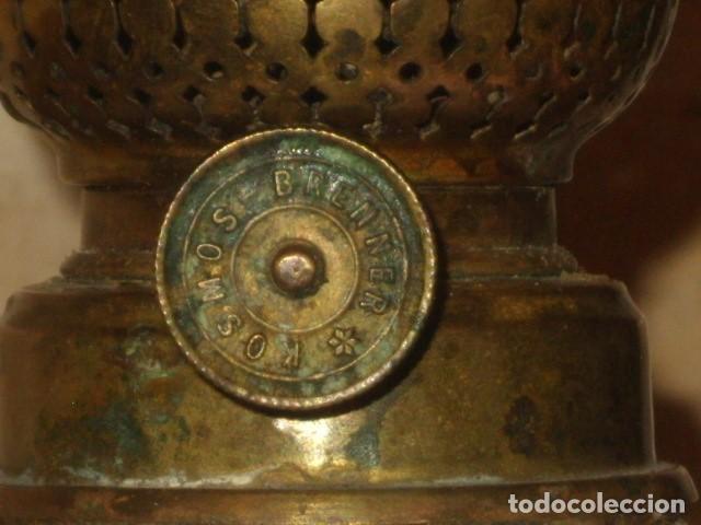 Antigüedades: ANTIGUO QUINQUE, LAMPARA DE OPALINA BLANCA, KOSMOS BRENNER. - Foto 7 - 127576595
