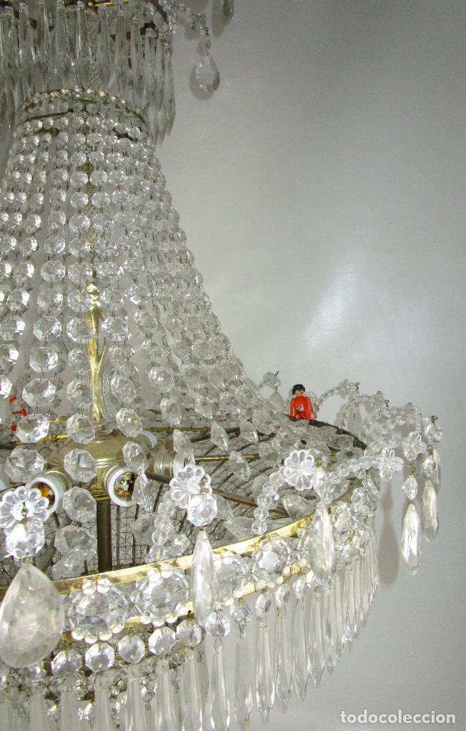 Antigüedades: LAMPARA XXXL ANTIGUA XXXL CRISTAL DE BOHEMIA DE PALACIO HOTEL TIENDA HALL - Foto 3 - 127578315