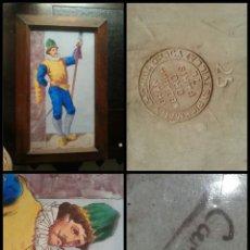 Antigüedades: PLACA PICKMAN - ESCUCHO OFERTA . CARTUJA SEVILLA COMPAÑIA CHINA OPACA PARIS 78 N 25 CARLOS MILITAR. Lote 127606095