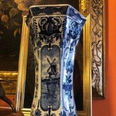 Antigüedades: JARRON HOLANDÉS DELFT. MADE FOR ROYAL SPHINX BY BOCH.. Lote 127616691